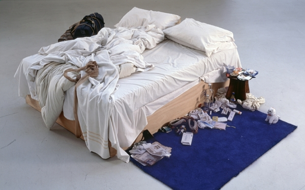 Tracey Emin's BedTate Modern FOR USE WITH REVIEW ONLY